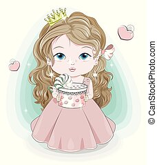Happy birthday princess baby girl