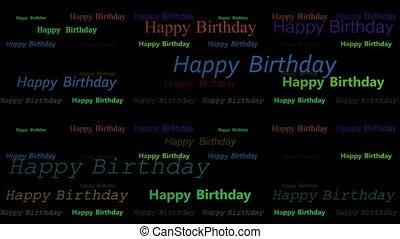 Happy birthday random scatter loop