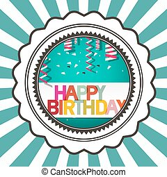 Happy Birthday Retro Vector Card