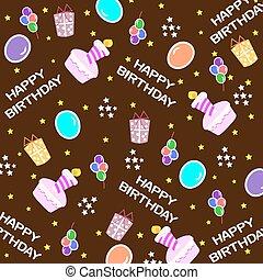 Happy birthday seamless background