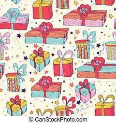 Happy Birthday seamless pattern.