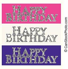 Happy birthday set of words
