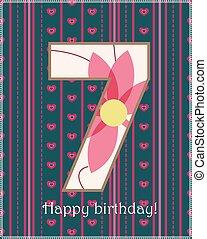 Happy birthday seven card