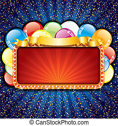 Happy Birthday Sign - Bright Happy Birthday Sign with...
