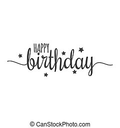happy birthday sign on white background