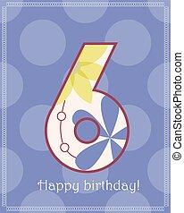 Happy birthday six card