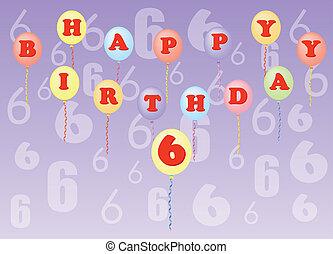 happy birthday six years