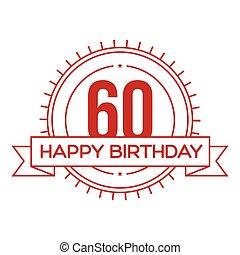Happy Birthday Sixty years sign