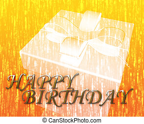 Happy Birthday festive special occasion celebration abstract...