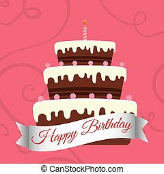 happy birthday sweet cake candle
