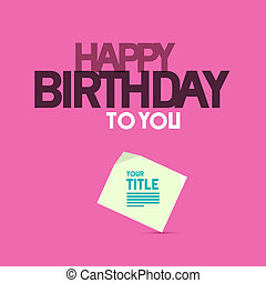 Happy Birthday Template on Pink Background