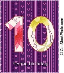 Happy birthday ten card