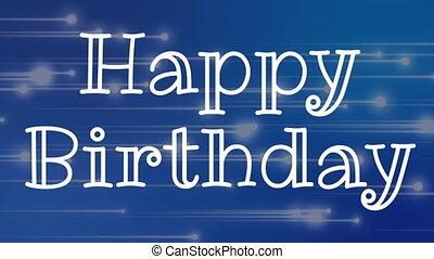 Happy birthday text - Digital composite of happy birthday ...