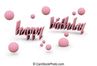happy birthday text - happy birthday on white background....