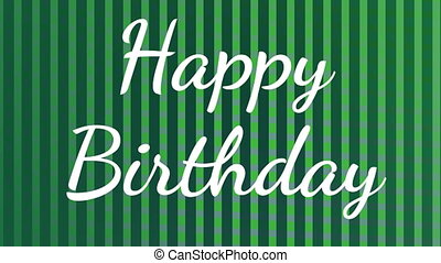 happy birthday text with animated green lines and squares ...