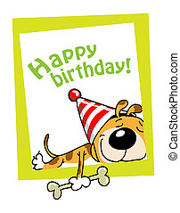 Happy birthday! - The small doggie have wished happy...