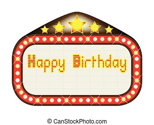 Happy Birthday Theatre Marquee - A happy birthday movie...