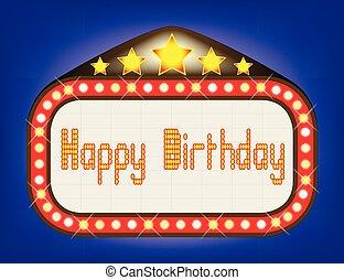 Happy Birthday Theatre Marquee