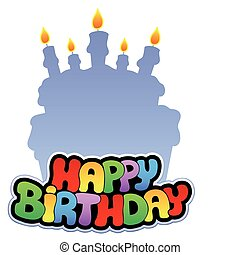Happy birthday theme 2 - vector illustration.
