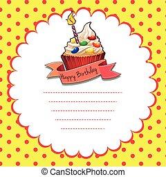 Happy Birthday theme with cupcake