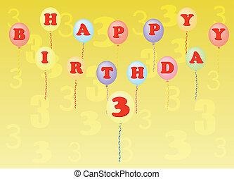 happy birthday three years