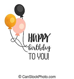 Happy Birthday To You Balloon Background Vector Image