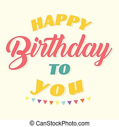 Happy Birthday To You Flag Background Vector Image