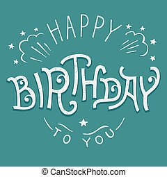 Happy birthday to you inscriptions set hand drawn vectors happy birthday to you hand lettering bookmarktalkfo Choice Image