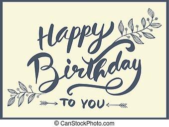 Happy birthday to you inscriptions set hand drawn vectors happy birthday to you lettering bookmarktalkfo Choice Image