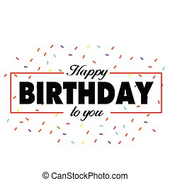Happy Birthday To You Ribbon Background Vector Image