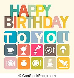 Happy Birthday to You Vector Card