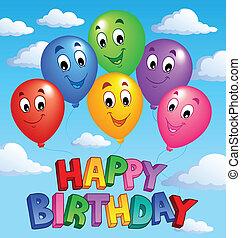 Happy Birthday topic image 3 - vector illustration.