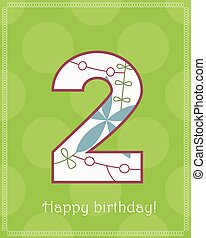 Happy birthday two card