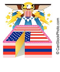 Patriotic Eagle and Cake