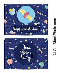 Happy Birthday Vector Cartoon Greeting Card