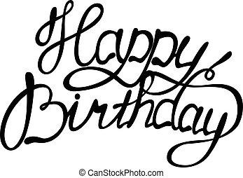 Vector Happy Birthday Lettering