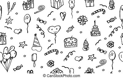 Happy Birthday vector pattern.