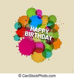 Happy Birthday Vector Theme