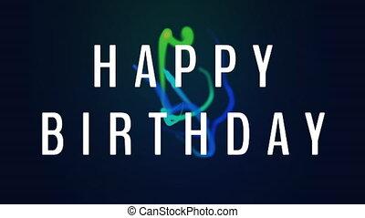 Happy Birthday Video - Happy Birthday writing against blue ...