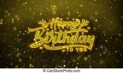 Happy Birthday Wishes Greetings card, Invitation,...