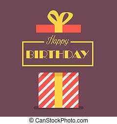 Happy birthday with gift box