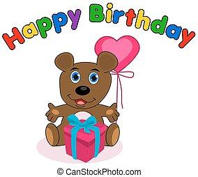 happy birthday with teddy