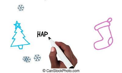 Happy Birthday written on white background - Animation of ...