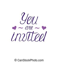 happy birthdays calligraphy phrase handwritten modern lettering you are invited