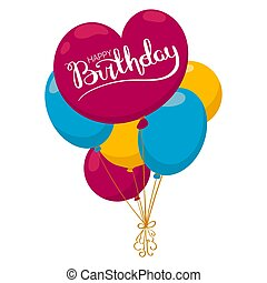 Happy bithday balloon card