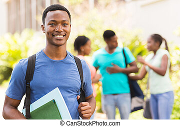 black university student looking at the camera