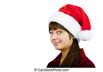 blue-eyed girl Santa