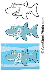 Happy Blue Shark Collection