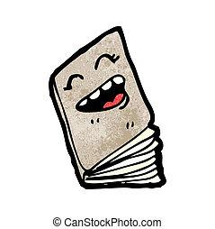 happy book cartoon