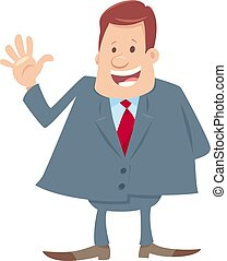happy boss cartoon character illustration